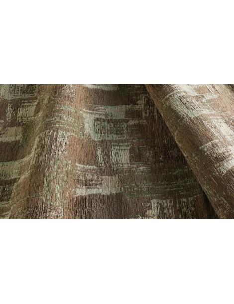 Dettaglio del tappeto in offerta moderno multicolore con tonalità marroni