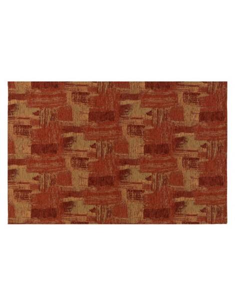 Pianta del tappeto moderno rosso, veduta dall'alto