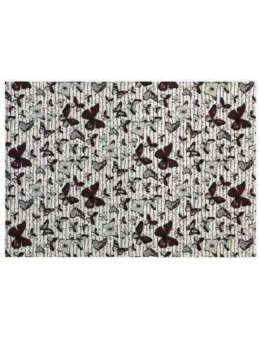 Pianta del tappeto moderno con farfalle