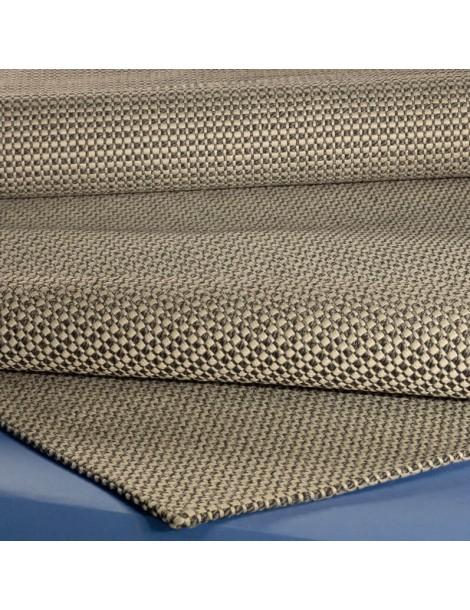 Dettaglio del tappeto ad effetto stuoia