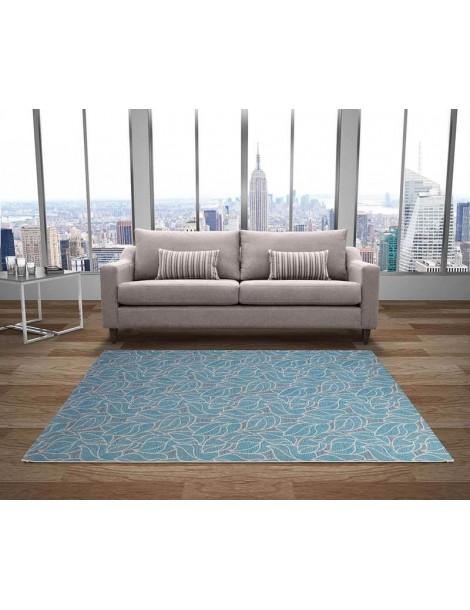 tappeto moderno blu