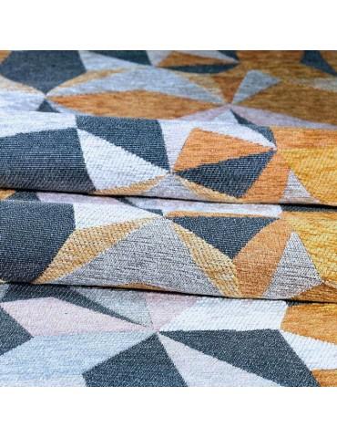 Dettaglio tappeto moderno geometrico giallo e grigio