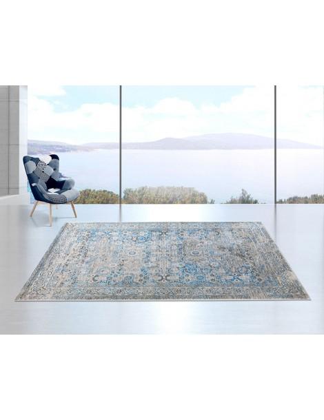ambientazione tappeto vintage colore blu