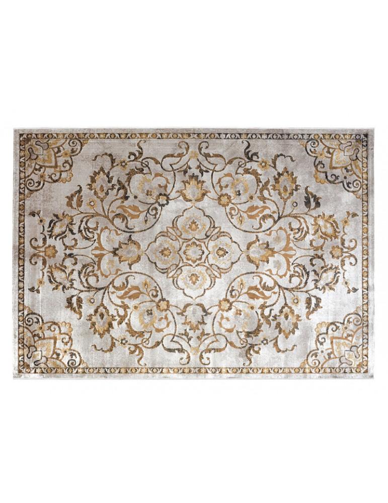 vedeta dall'alto del tappeto giallo in stile moderno per arredare soggiorno o camera da letto