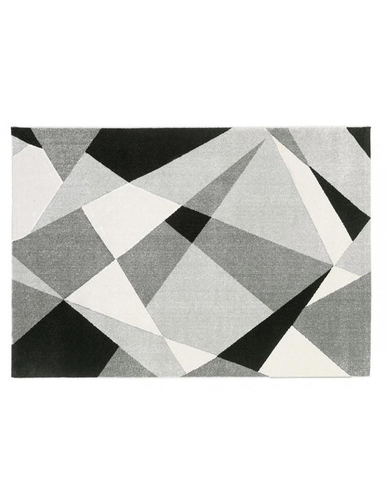 Tappeto geometrico in stile moderno visto dall'alto