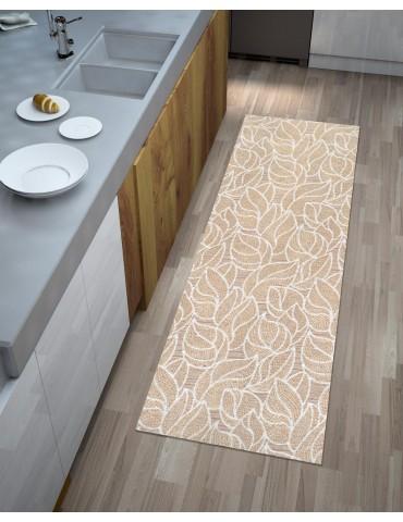 Tappeto cucina moderno beige dai toni caldi di facile inserimento in ogni  ambiente. Disponibile in varie misure