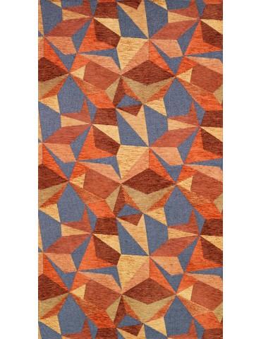 Pianta del tappeto geometrico tonalità arancio